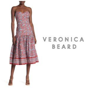 VERONICA BEARD Strapless Floral Print Dress Sz 6